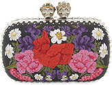 Alexander McQueen Floral 'Queen and King' box clutch