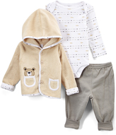 Beige Bear Bodysuit Set