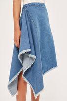 Boutique Side drape denim skirt