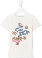 Mini Rodini Cherry T-shirt - kids - Organic Cotton/Spandex/Elastane - 9 yrs