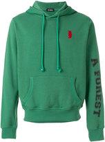 Raf Simons embroidered logo hoodie