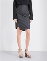 Anglomania High-rise wool skirt
