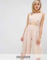 Love Cut Out Front Wide Leg Culotte Jumpsuit