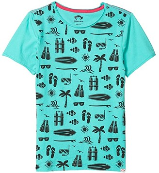 Appaman Kids Graphic Short Sleeve Tee - Sea Excursion (Infant/Toddler/Little Kids/Big Kids) (Turquoise) Boy's Clothing