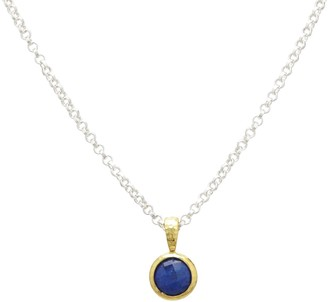 Gurhan Pendant Necklace With Checkerboard Cut Lapis