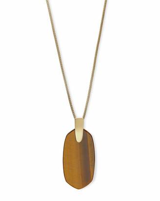Kendra ScottKendra Scott Inez Gold Long Pendant Necklace In Brown Tigers Eye