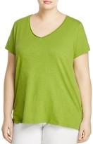 Eileen Fisher Plus Organic Cotton V-Neck Tee