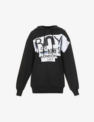 Boy London Graphic logo-print cotton-jersey hoody