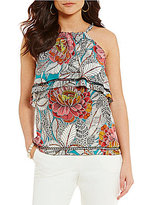 Trina Turk Guest Printed Popover Halter Top