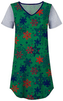 Gray & Green Snowflake Nightgown - Women & Plus