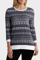 Textured Tonal 3/4 Sleeve Jumper
