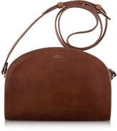 A.P.C. Half Moon Thick Leather Crossbody Bag