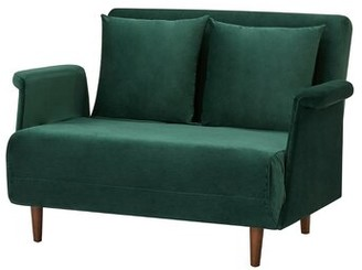 "Stanton Drew 39.37"" Convertible Chair Latitude Run Upholstery Color: Green"