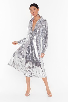 Tinseltown Nasty GalNasty Gal Womens Welcome To Sequin Maxi Dress - Grey - S, Grey
