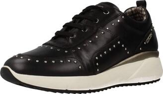 PIKOLINOS Leather Sneakers Sella W6Z Black