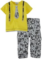Petit Lem Big City 2 Piece Set (Baby) - Yellow-3 Months