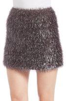 French Connection Eyelash-Knit Mini Skirt