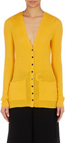 Proenza Schouler Women's Rib-Knit Cardigan-GOLD, YELLOW