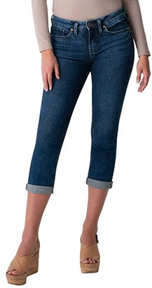 Silver Jeans Co. Suki Mid-Rise Power Stretch Capris L43916EGX311 (Indigo) Women's Jeans