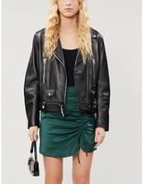 KENDALL + KYLIE Pacsun PacSun x Kendall & Kylie high-waisted satin-crepe mini skirt