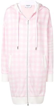 Thom Browne 4-Bar stripe gingham hoodie