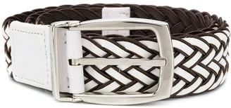Brioni Woven Buckle Belt