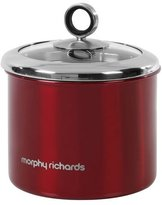 Morphy Richards Accents Small Storage Canister with Glass Lid - Red