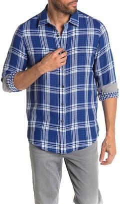 Michael Kors Jordi Double Face Plaid Print Classic Fit Shirt