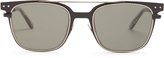 Bottega Veneta Wayfarer intrecciato-engraved metal sunglasses