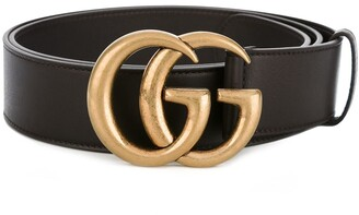 Gucci double G buckle belt