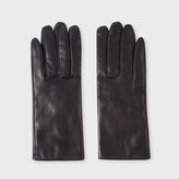 Paul Smith Women's Navy Leather Touchscreen-Friendly Gloves