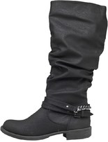 Board Angels Womens Ruched Boots Black