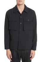 TOMORROWLAND Men's Pinstripe Flannel Shirt Jacket