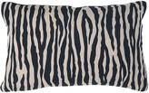 Wallace Cotton Urban Jungle Rectangle Cushion Black