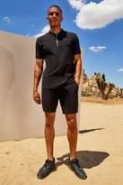 BoohoomanBoohooMAN Mens Black His Pique Zip Polo & Short Set, Black
