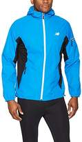 New Balance Men's Colorblocked Chevron Poly Dobby Jacket