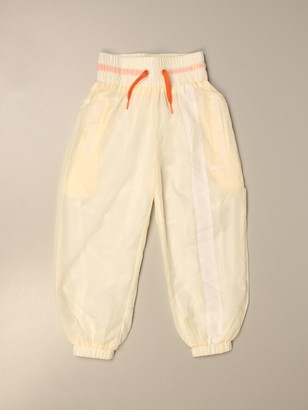 Molo Jogging Trousers In Technical Fabric With Logo