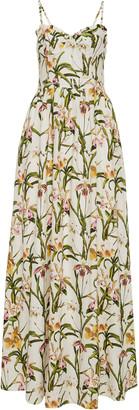 Agua Bendita Acacia Floral Maxi Dress