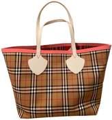 Burberry The Giant Multicolour Cotton Handbags