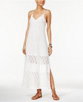 Roxy Juniors' UR Mine Crochet-Trim Maxi Dress