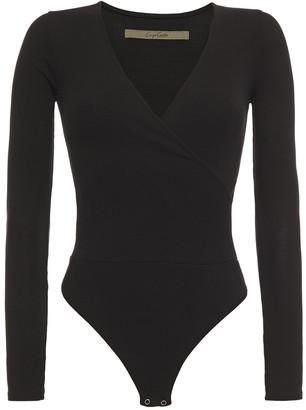 Enza Costa Wrap-effect Ribbed Jersey Bodysuit