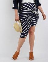 Charlotte Russe Plus Size Draped Asymmetrical Skirt