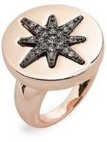Topshop Women's Crystal Star Statement Ring