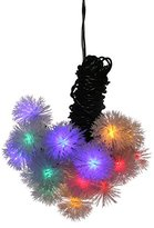 Megadream Flower Solar Outdoor String Lights, 15ft 20 LED Multi-Color Fairy Blossom Christmas Lights Decorative Lighting for Indoor, Home, Garden, Patio, Party and Holiday Decorations - 2 Flash Modes