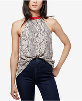 Free People Through The Night Printed Open-Back Top