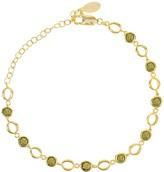 Latelita Milan Link Gemstone Bracelet Gold Peridot