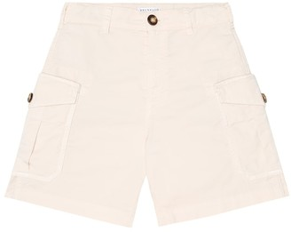 BRUNELLO CUCINELLI KIDS Stretch-cotton cargo shorts
