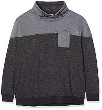 Tom Tailor Men+ Mens 1016726 Regular Fit Banded Collar Long Sleeve Sweatshirt - Grey - XXXX-Large