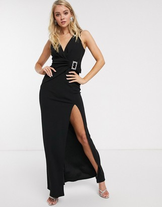 Bardot City Goddess midi dress-Black