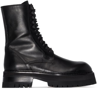 Ann Demeulemeester Chunky-Sole Lace-Up Boots